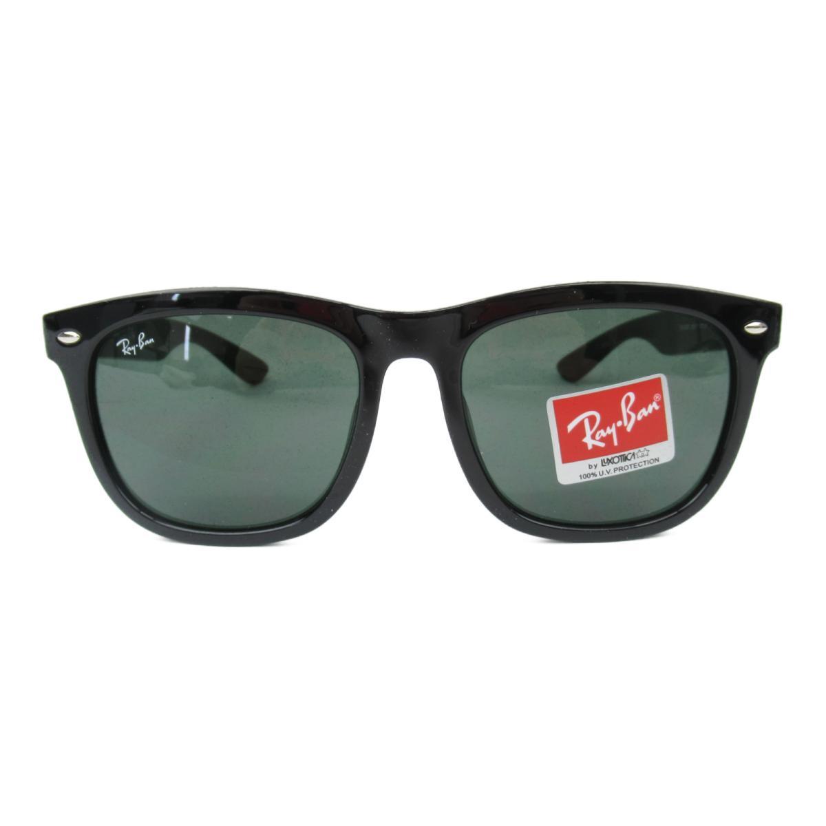 レイバン サングラス ウェリントン メンズ レディース レンズ;プラスチック/フレーム:プラスチック ブラック x グレイグリーン (4260D 601/71 (57)) | Ray Ban BRANDOFF ブランドオフ 眼鏡 メガネ めがね