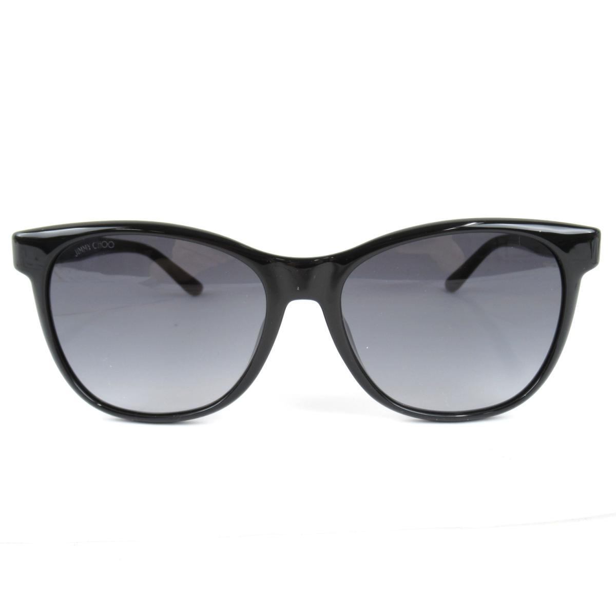 ジミーチュウ JUNE/F サングラス ウェリントン メンズ レディース フレーム:プラスチック/レンズ:プラスチック ブラック x (JUNE/F 807/90)   JIMMY CHOO BRANDOFF ブランドオフ 眼鏡 メガネ めがね