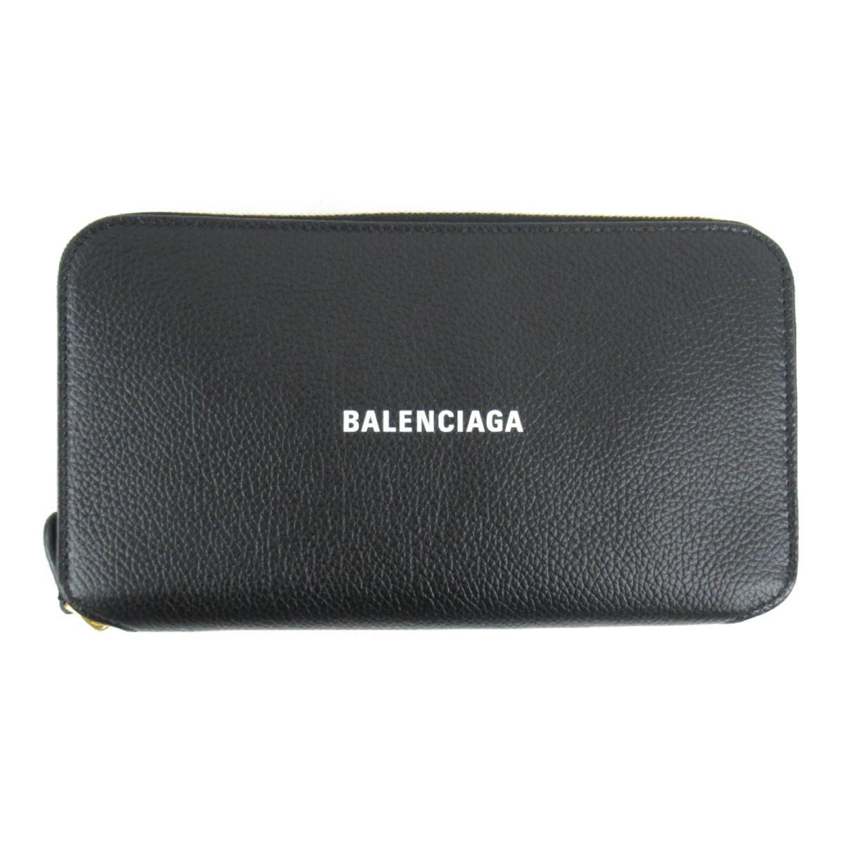 バレンシアガ CASH CONTINENTAL WAL ラウンド長財布 メンズ レディース レザー ブラック x ホワイト (5942901IZIM1090) | BALENCIAGA BRANDOFF ブランドオフ ブランド ブランド財布 財布 レディース財布 サイフ