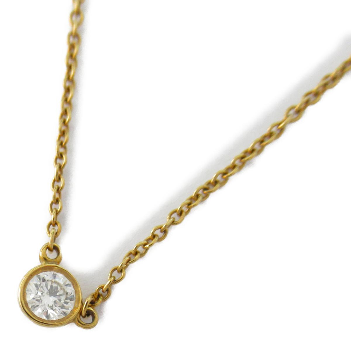 【中古】 ティファニー バイザヤードネックレス レディース K18YG (750) イエローゴールド x ダイヤモンド   TIFFANY&CO BRANDOFF ブランドオフ ブランド アクセサリー ネックレス ペンダント