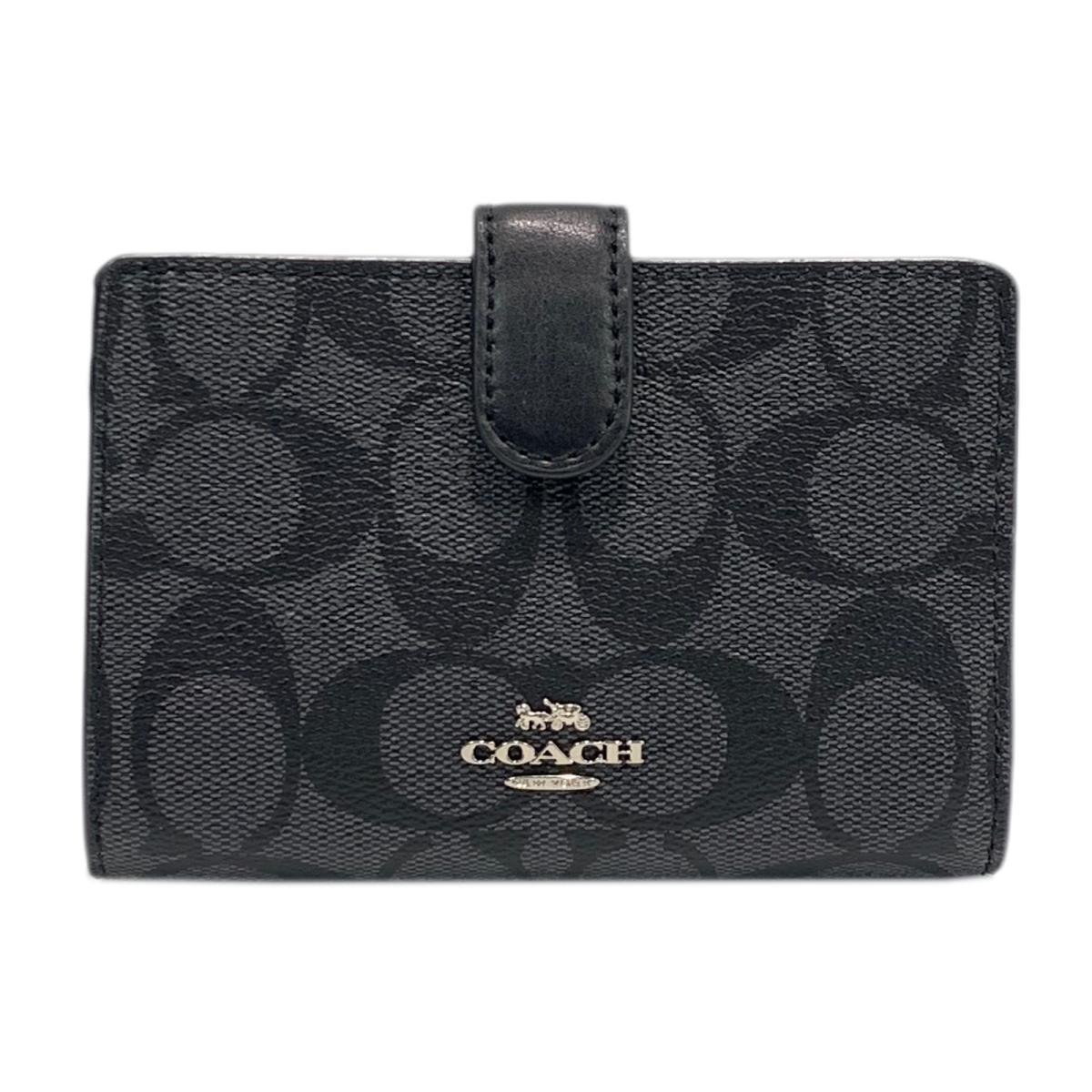コーチ L型ZIP財布 メンズ レディース レザー ブラック (F23553SVDK6) | COACH BRANDOFF ブランドオフ ブランド ブランド財布 財布 レディース財布 サイフ