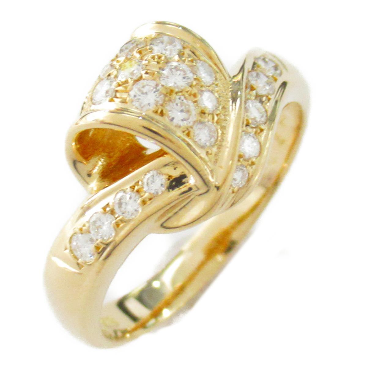 【中古】 ジュエリー ダイヤモンド リング 指輪 レディース K18YG (750) イエローゴールド ダイヤモンド0.32ct | JEWELRY BRANDOFF ブランドオフ ブランド アクセサリー