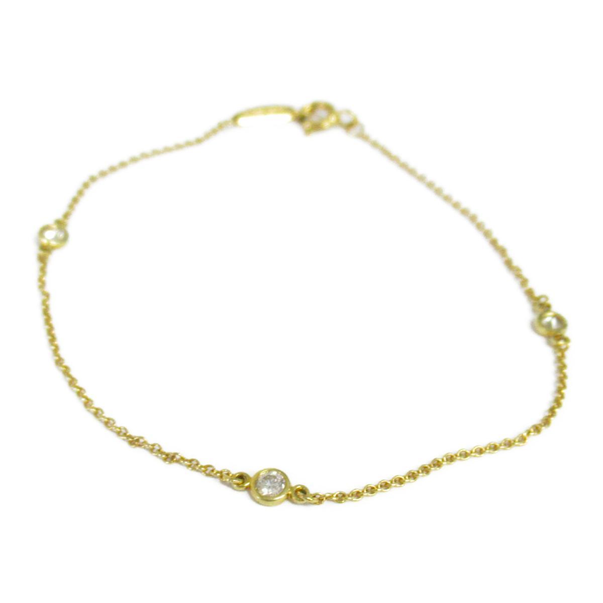 【中古】 ティファニー バイザヤードブレス ブレスレット レディース K18YG (750) イエローゴールド ダイヤモンド | TIFFANY&CO BRANDOFF ブランドオフ ブランド アクセサリー 腕輪