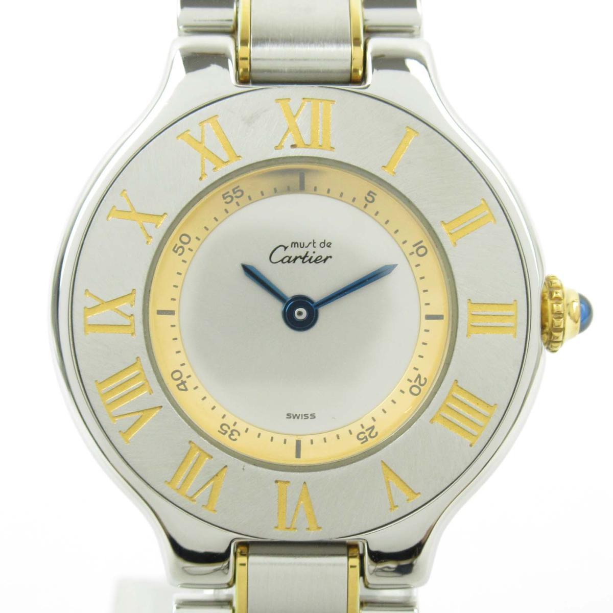 【予約販売品】 【】 カルティエ マスト21 ウォッチ 腕時計 レディース GP ステンレススチール (SS) (1340) | Cartier BRANDOFF ブランドオフ ブランド ブランド時計 ブランド腕時計 時計, 通販パーク 854be471