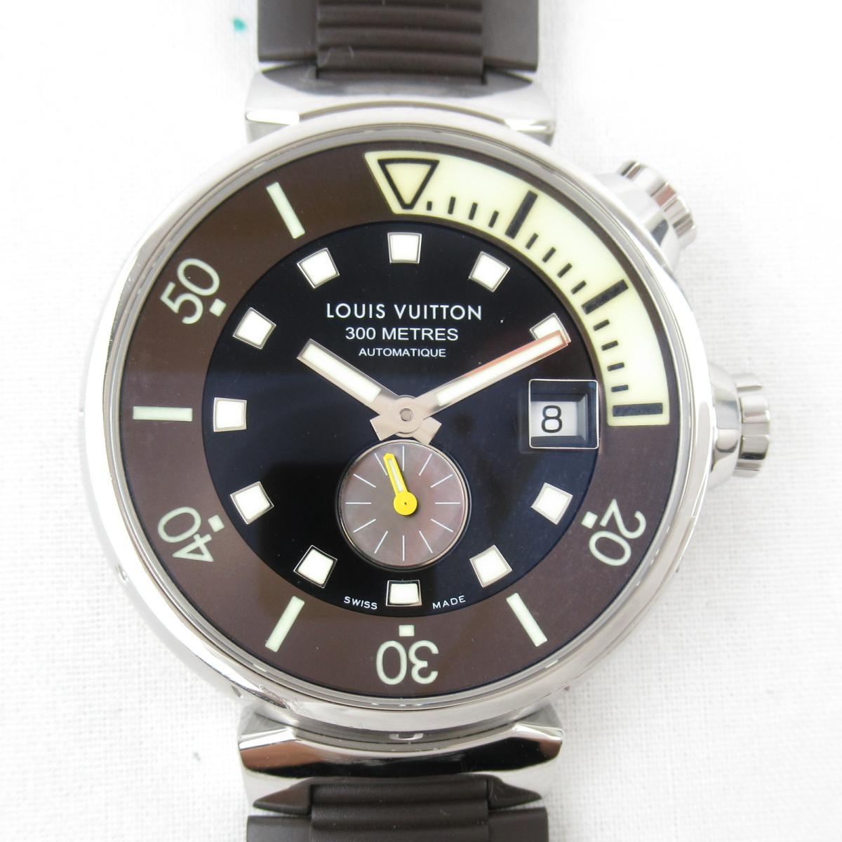 正規品販売! 【】ルイヴィトン (Q1031) タンブールダイビング ウォッチ 腕時計 メンズ ステンレススチール(SS) x ラバーベルト ラバーベルト メンズ (Q1031), コスメの王様:895a07bc --- arg-serv.ru