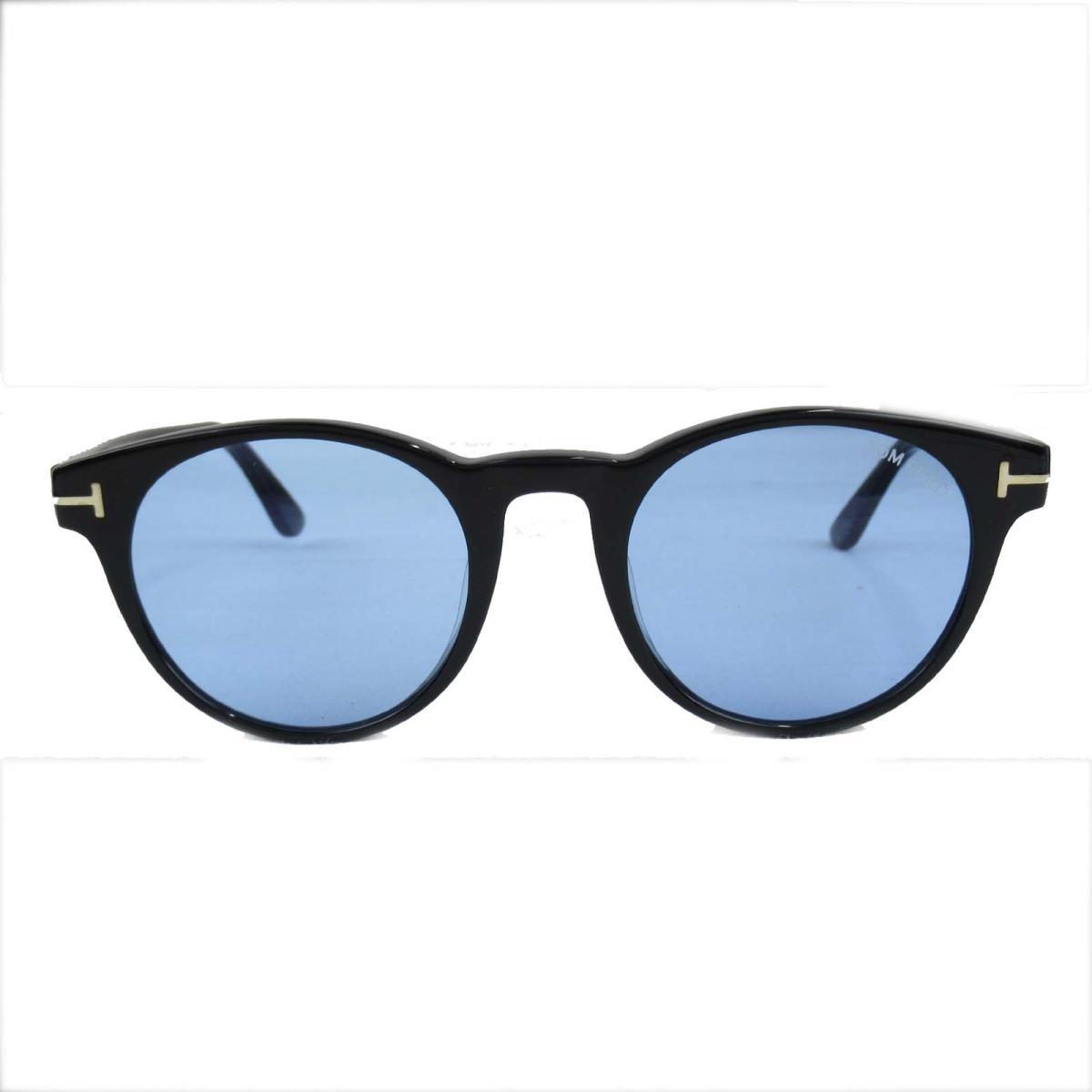 セレクション TOM FORD サングラス メンズ プラスチック ブラック x ブルー (0522F 01V)