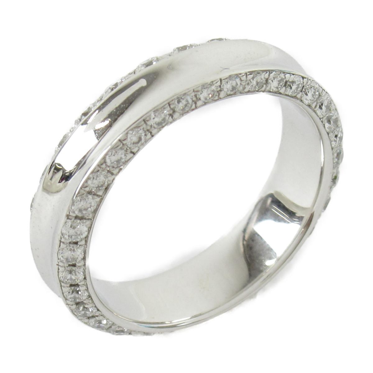 【中古】ジュエリー ダイヤモンド リング 指輪 ユニセックス K18ホワイトゴールドxダイヤモンド(1.06ct)