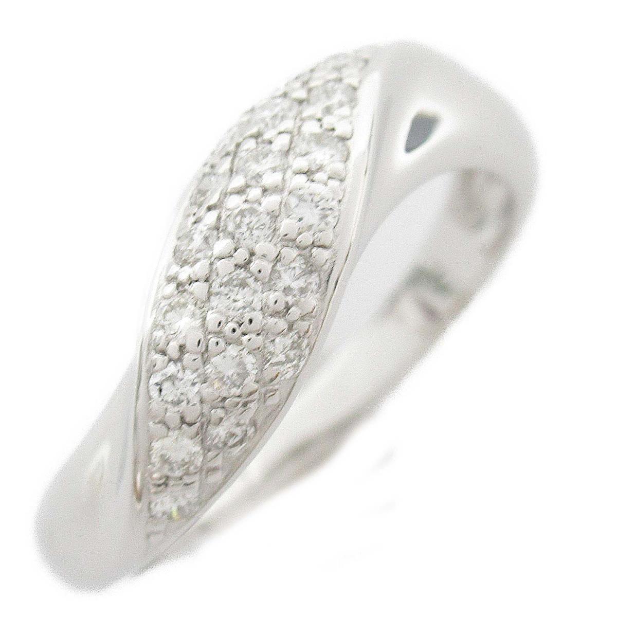【中古】ジュエリー ダイヤモンド リング 指輪 レディース K18WG(750) ホワイトゴールド x ダイヤモンド0.29CT