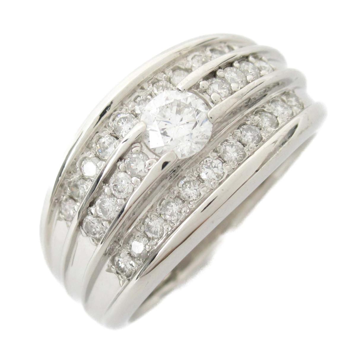 【中古】ジュエリー ダイヤモンド リング 指輪 レディース PT900 プラチナ x ダイヤモンド3.06/0.40CT