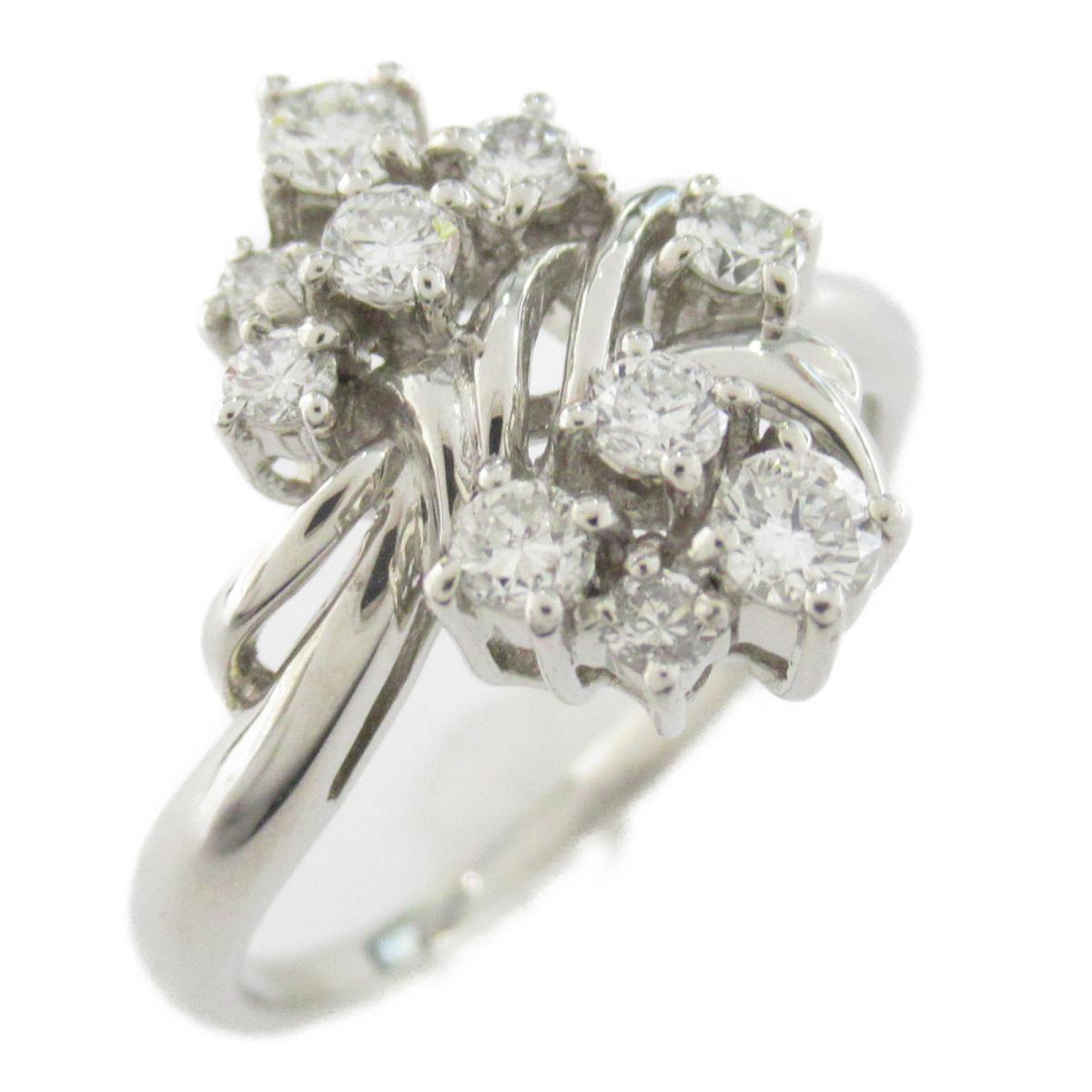 【中古】ジュエリー ダイヤモンド リング 指輪 レディース PT900 プラチナ x ダイヤモンド0.57CT