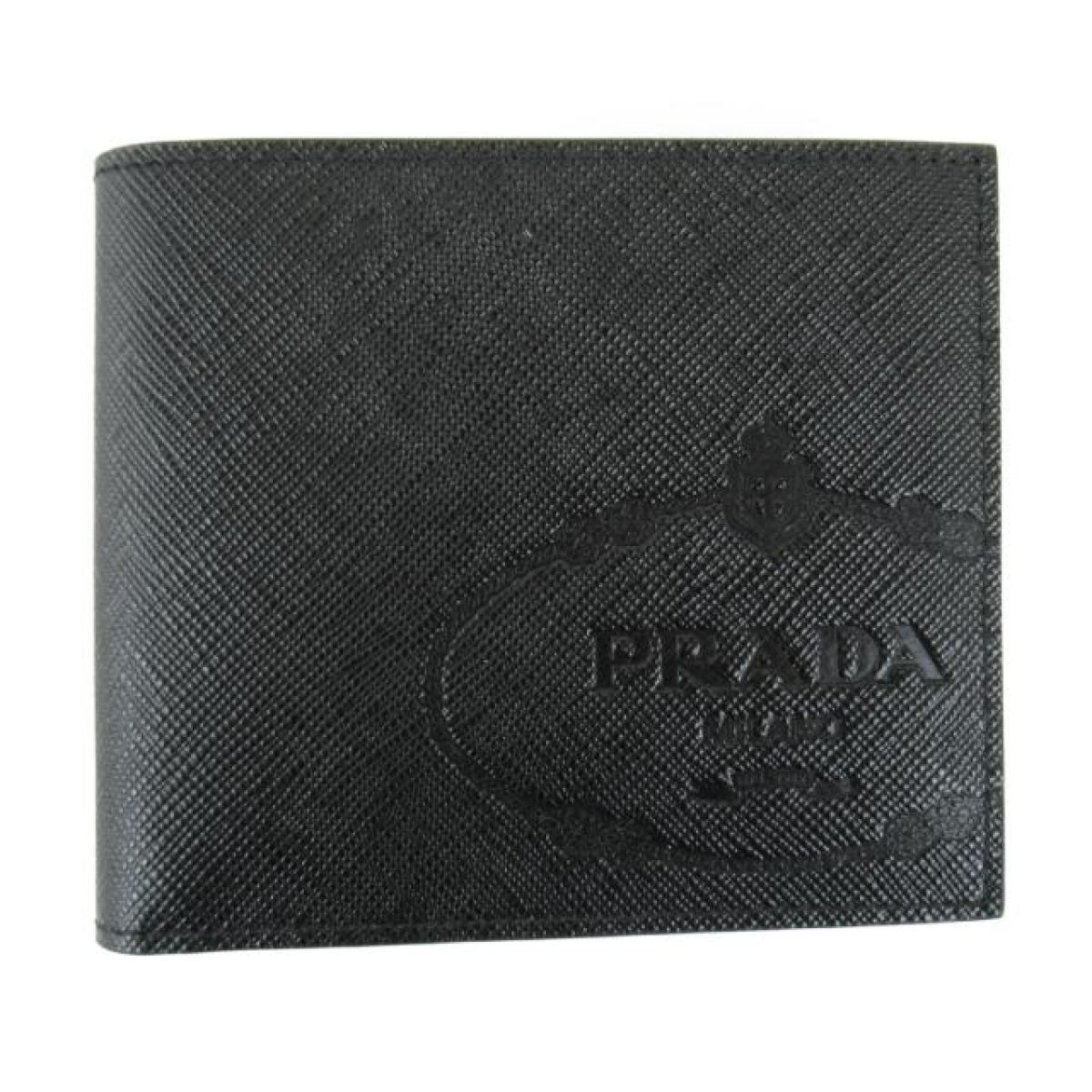 プラダ SLG サフィアーノ 二つ折り財布 札入れ メンズ レディース サフィアーノレザー ブラック (2MO5132MB8F0002)   PRADA BRANDOFF ブランドオフ ブランド ブランド財布 財布 レディース財布 サイフ