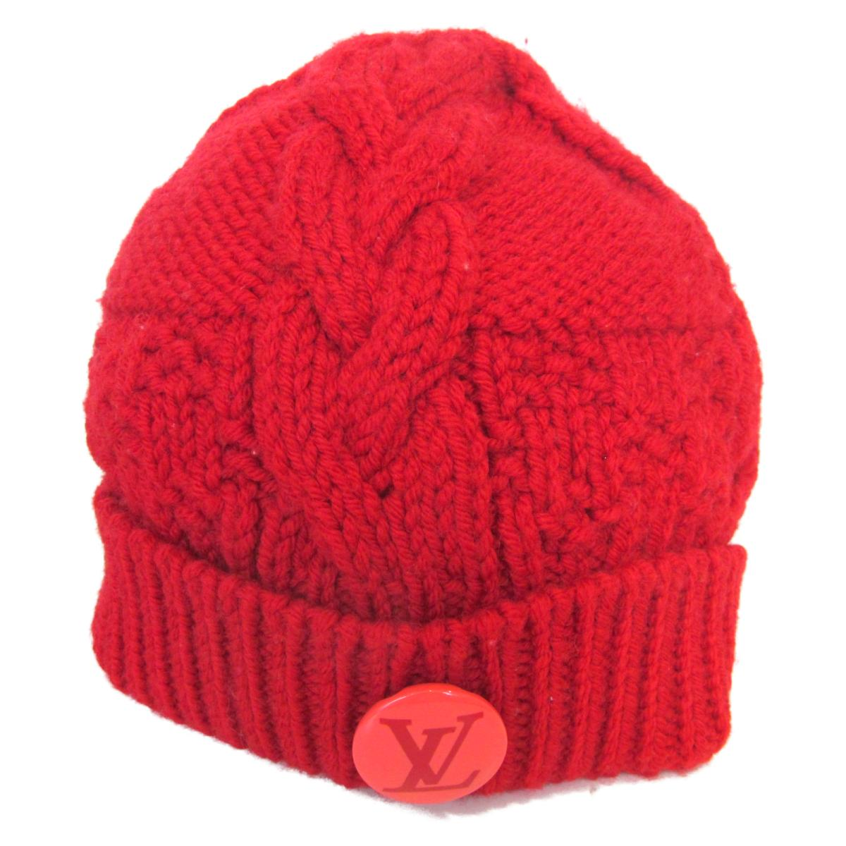 LOUIS VUITTON 安い 激安 プチプラ 高品質 ニット帽 衣料品 ランクA 送料無料 ブランドオフ 誕生日 プレゼント ギフト ウール 最大3万円OFFクーポン ルイヴィトン 全店販売中 レッド レディース 8 中古 15から ポイント5倍 なくなり次第終了