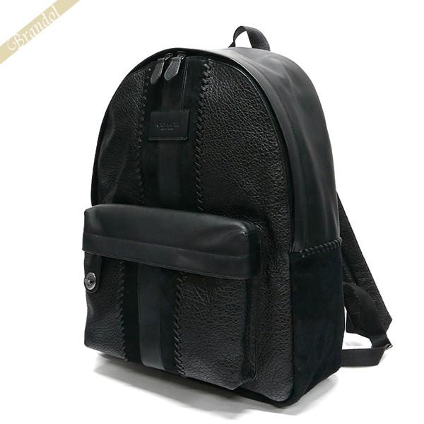 コーチ COACH メンズ リュックサック レザー バックパック ブラック F25513 QB/BK 【コーチアウトレット】【ブランド】