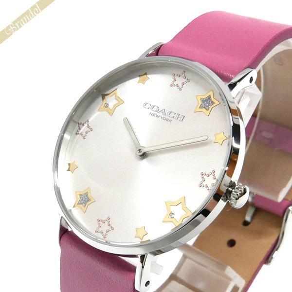 コーチ COACH レディース腕時計 Perry ペリー ムーン&スター インデックス 36mm シルバー×ピンク 14503243 | コンビニ受取 ブランド