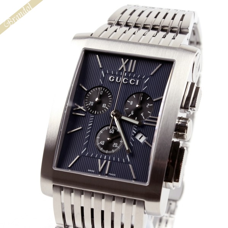 《クーポンで1000円OFF 5/26 23:59まで》グッチ GUCCI メンズ腕時計 Gメトロ G-Metoro Chrono クロノグラフ ネイビー YA086318 【ブランド】