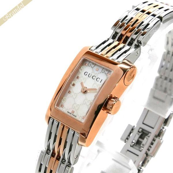 グッチ GUCCI レディース腕時計 Gメトロ G-Metoro レクタングル ホワイトシェル×シルバー YA086516 【ブランド】