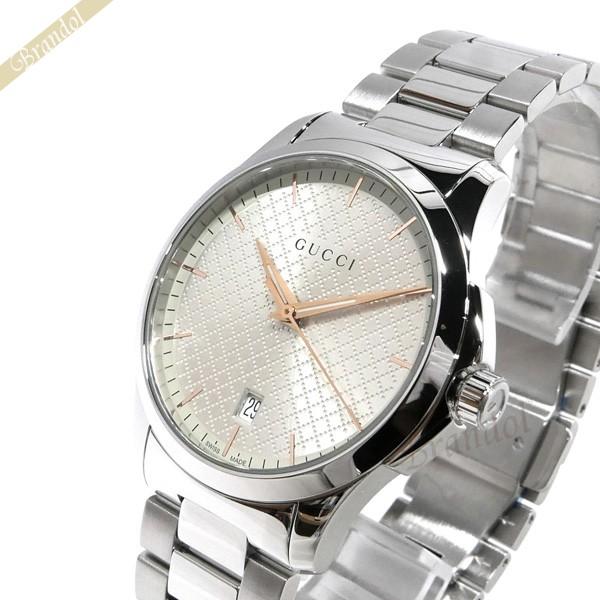 グッチ GUCCI メンズ腕時計 Gタイムレス G-Timeless 40mm シルバー YA1264052   ブランド