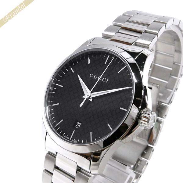グッチ GUCCI メンズ腕時計 Gタイムレス G-Timeless 40mm ブラック×シルバー YA1264051 | ブランド