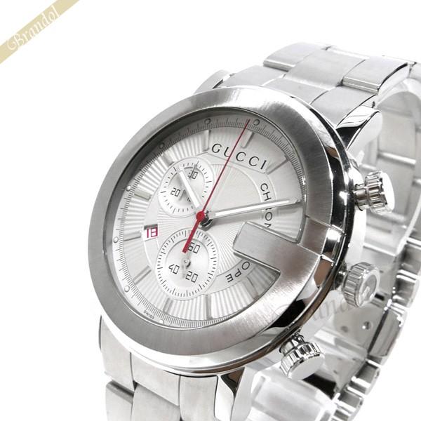 《お買い物マラソン 1000円OFFクーポン対象》グッチ GUCCI メンズ腕時計 Gクロノ G-Chrono クロノグラフ 44mm シルバー YA101339 【ブランド】