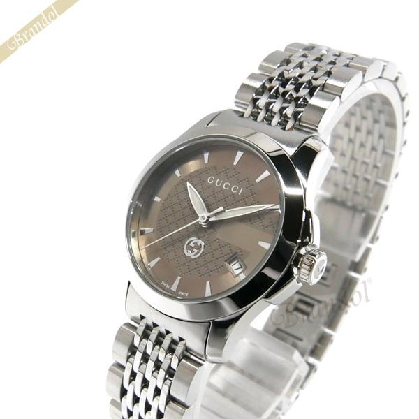 《1000円OFFクーポン対象_5月18日9:59迄》グッチ GUCCI レディース腕時計 Gタイムレス G-Timeless 27mm ブラウン×シルバー YA1265007 | ブランド