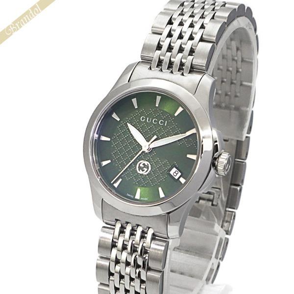 《1200円OFFクーポン対象_3月11日1:59迄》グッチ GUCCI レディース腕時計 Gタイムレス G-Timeless 27mm グリーン×シルバー YA1265008 | xcp1 ブランド