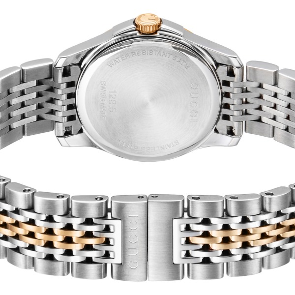 《1200円OFFクーポン対象商品 8/26 23:59迄》グッチ GUCCI レディース腕時計 Gタイムレス G-Timeless 27mm ホワイトシェル×シルバー YA126539 | ブランド