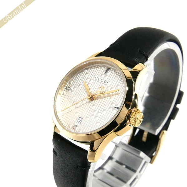 《お買い物マラソン 1000円OFFクーポン対象》グッチ GUCCI レディース腕時計 Gタイムレス G-Timeless 27mm シルバー×ブラック YA126571 【ブランド】