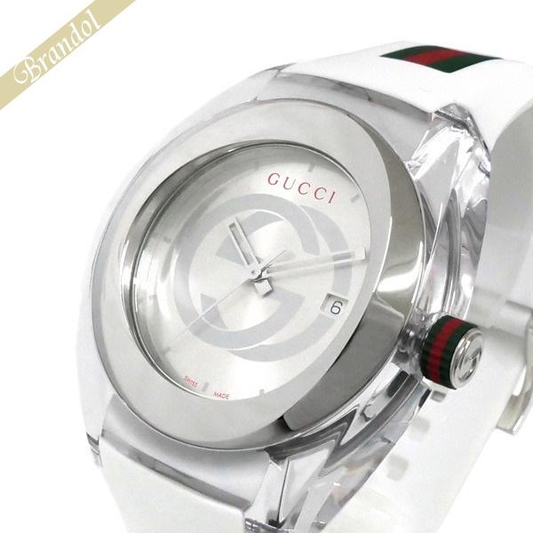 グッチ GUCCI メンズ腕時計 SYNC グッチシンク 46mm シルバー×ホワイト系 YA137102A | ブランド