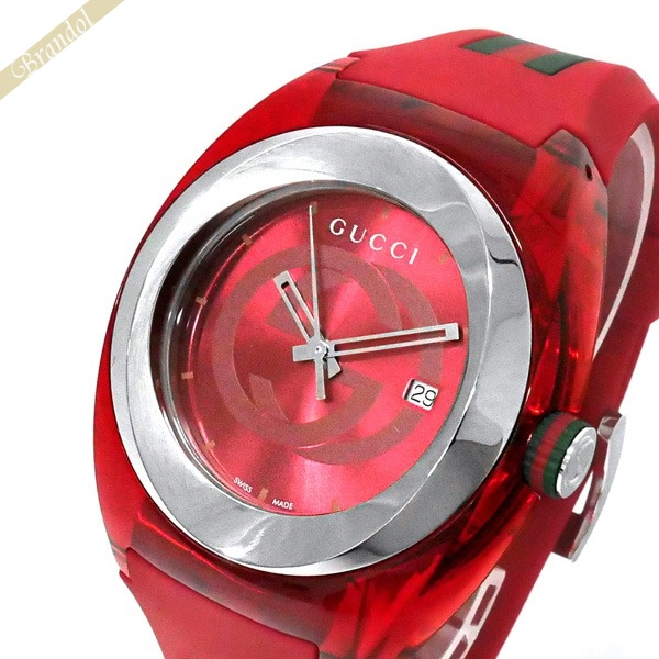 《1500円OFFクーポン対象 12月2日24時迄》グッチ GUCCI メンズ腕時計 SYNC グッチシンク 46mm レッド YA137103A | ブランド