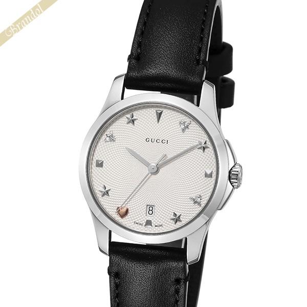 《1000円OFFクーポン対象_5月18日9:59迄》グッチ GUCCI レディース腕時計 Gタイムレス G-Timeless 28mm シルバー×ブラック YA126574 | ブランド