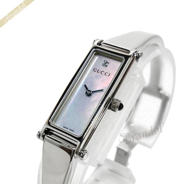 《お買い物マラソン 1000円OFFクーポン対象》グッチ GUCCI レディース腕時計 1500 1Pダイヤ ピンクパール YA015554 【ブランド】