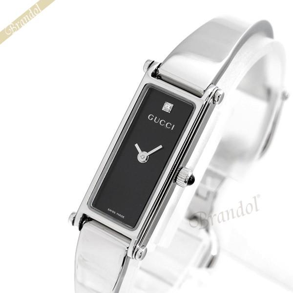 《1000円OFFクーポン対象_5月18日9:59迄》グッチ GUCCI レディース腕時計 1500 1Pダイヤ ブラック YA015555 | ブランド