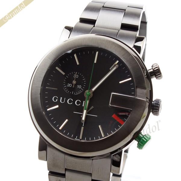 best authentic ec367 3ff28 グッチ GUCCI メンズ腕時計 Gクロノ G-Chrono 42mm ブラック YA101331 【ブランド】|海外ブランド専門店 Brandol