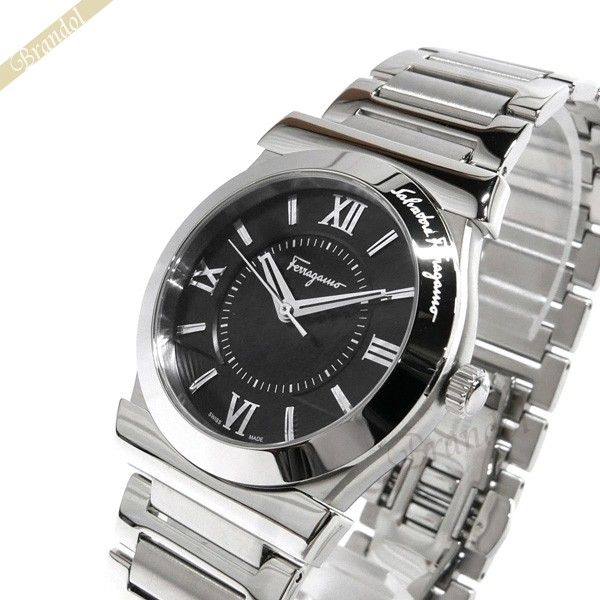 《1000円OFFクーポン対象商品》フェラガモ Ferragamo メンズ 腕時計 Vega ベガ 37mm ブラック×シルバー FI0940015 【ブランド】