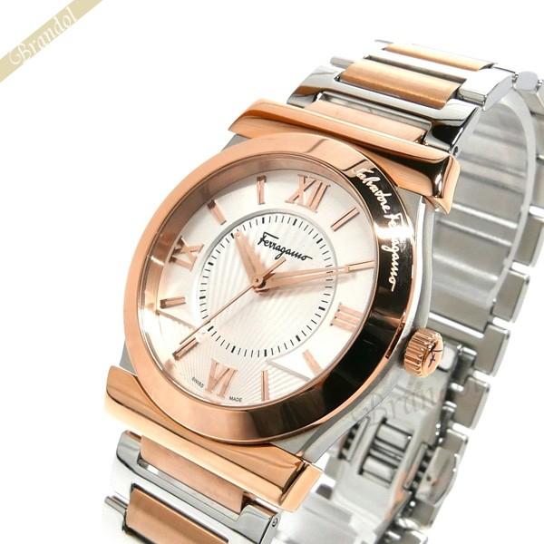 《1000円OFFクーポン対象_1月6日23:59迄》フェラガモ Ferragamo メンズ 腕時計 Vega ベガ 37mm シルバー×ローズゴールド FI0890016 | ブランド