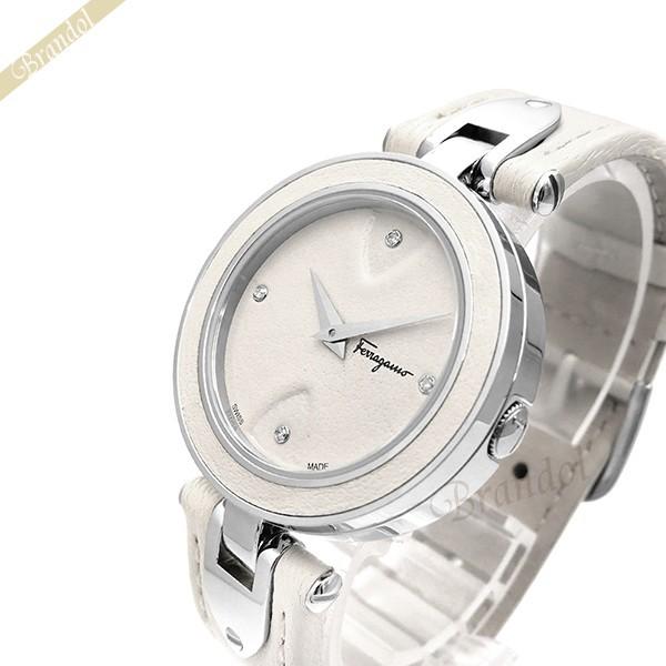 《1000円OFFクーポン対象_5月18日9:59迄》フェラガモ Ferragamo レディース腕時計 Gilio 32mm ホワイト FIW030017 | ブランド