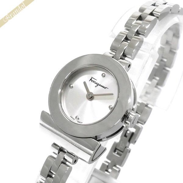 《1000円OFFクーポン対象_5月18日9:59迄》フェラガモ Ferragamo レディース腕時計 Gancino ガンチーニ ブレスレット 22mm シルバー FBF010016 | ブランド