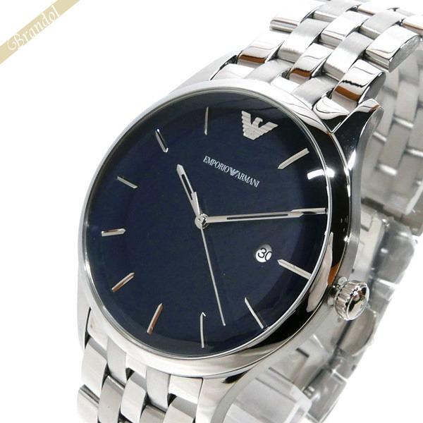 エンポリオアルマーニ EMPORIO ARMANI メンズ腕時計 LAMBDA ラムダ 43mm ネイビー×シルバー AR11019   コンビニ受取 ブランド