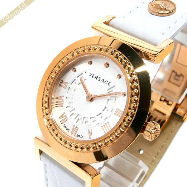 《1000円OFFクーポン対象》ヴェルサーチ VERSACE レディース腕時計 ヴァニティ 35mm シルバー×ホワイト P5Q80D001S001 【ブランド】