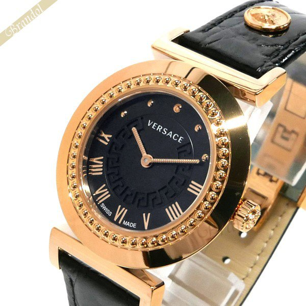 《お買い物マラソン 1000円OFFクーポン対象》ヴェルサーチ VERSACE レディース腕時計 ヴァニティ 35mm ブラック×ゴールド P5Q80D009S009 【ブランド】