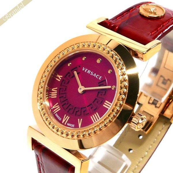 《1000円OFFクーポン対象》ヴェルサーチ VERSACE レディース腕時計 ヴァニティ 35mm パープル系×レッド P5Q80D800S800 【ブランド】