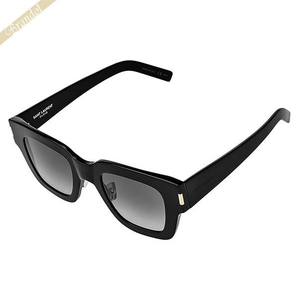 サンローラン パリ SAINT LAURENT メンズ・レディース サングラス スクエア型 セルフレーム アジアンフィットモデル ブラック×ブラック系グラデーション SL184 F SLIM 001 | コンビニ受取 ブランド