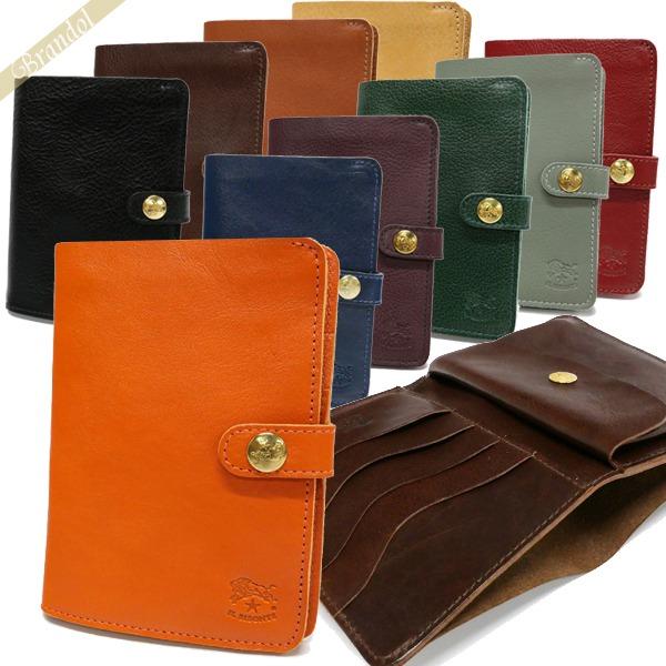 イルビゾンテ IL BISONTE 財布 メンズ・レディース 二つ折り財布 縦型 レザー 各色 C0343 | コンビニ受取 ブランド