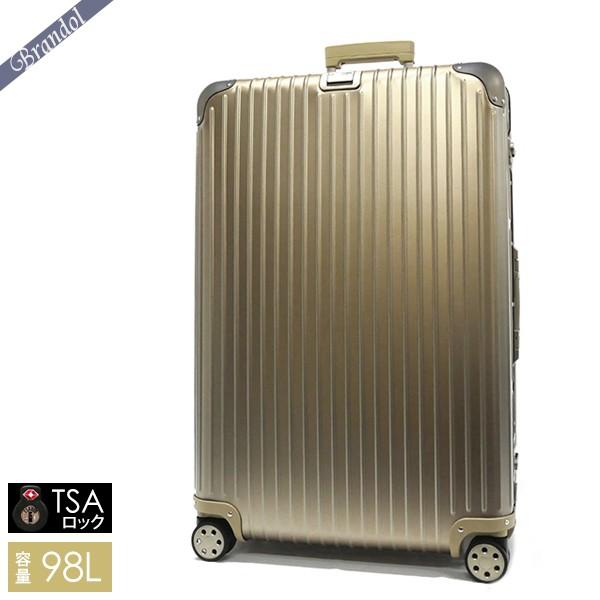 リモワ スーツケース TOPAS TITANIUM トパーズ チタニウム TSAロック対応 縦型 98L Lサイズ シャンパンゴールド 923.77.03.4