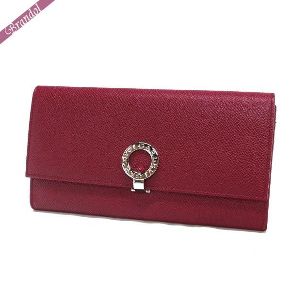 日本製 送料無料 BVLGARI 希望者のみラッピング無料 女性用 財布 サイフ 本革 ブルガリ 長財布 RED ブランド レザー 33889 レッド レディース