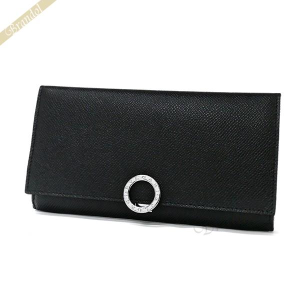 ブルガリ メンズ 長財布 ブルガリ・ブルガリ パスケース付 レザー ブラック 30412 BLK