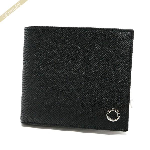 ブルガリ メンズ 二つ折財布 ブルガリ・ブルガリ マン レザー ブラック 30396 BLK