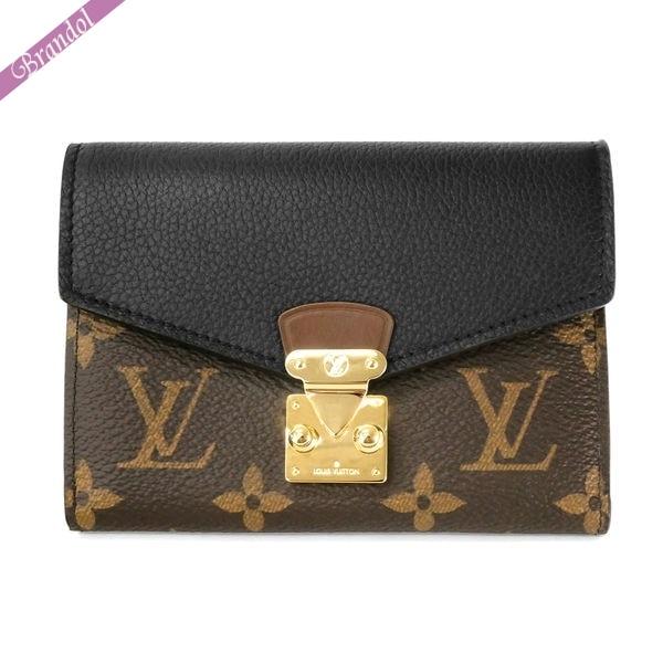 LOUIS VUITTON ルイヴィトン 三つ折り財布 ポルトフォイユ パラス コンパクト キャンバス ブラウン×ブラック M67479 | ブランド 母の日 普段使い