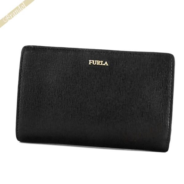 フルラ レディース 二つ折財布 バビロン レザー ブラック PBV8 B30 O60 / 1033322 | ブランド 母の日 普段使い