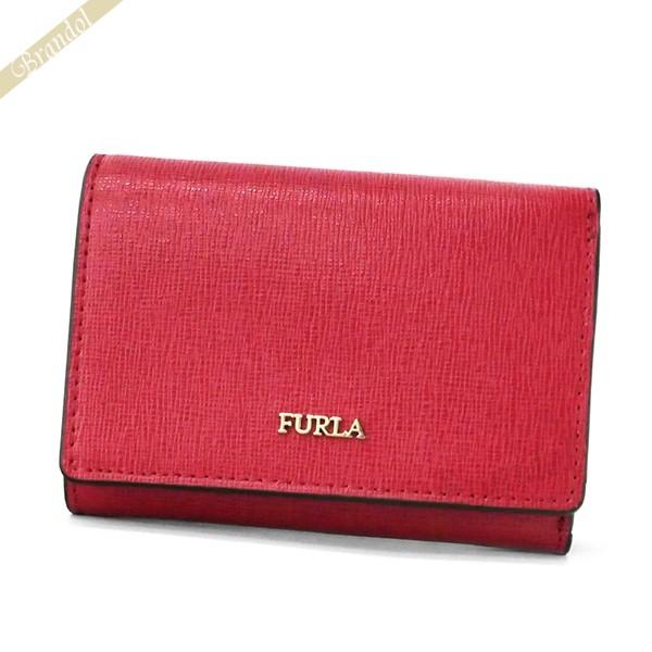 フルラ レディース 三つ折り財布 レザー ミニ財布 レッド PBP2 B30 RUB / 1023479 | ブランド 母の日 普段使い